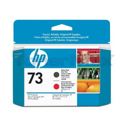 HP NO 73 PRINTHEAD MATTE BLACK AND CHROMATIC RED